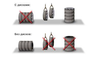 Как хранить резину без дисков